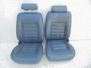 1987 1989 Mustang Convertible Front Bucket Seats Without Tracks Vinyl Pair