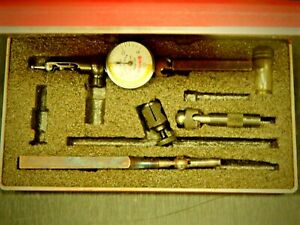 Starrett No 711 Last Word Universal Dial Test Indicator Set With Case