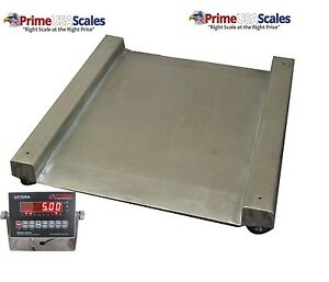 Op 917 Drum Scale Stainless Steel 28 X 28 1 500 Lb X 0 5 Lb Wash Down