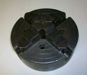 Vintage union Mfg 8 4 Jaw independent Lathe Chuck no Backing Plate