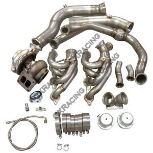 Cxracing Gt45 Single Turbo Kit 3 5 Manifold For 240sx S13 S14 Ls1 Lsx