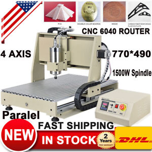 1 5kw Vfd 4axis 6040 Cnc Router Engraver Machine Mill Carving 3d woodworking