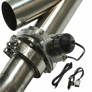 3 76mm Mannal Electric Exhaust Catback Downpipe Cutout E Cut Out Valve System
