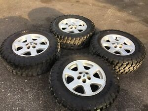 Land Rover Discovery 18 Inch Wheels And Tires Set 275 65 18 M t Ironman Off Road