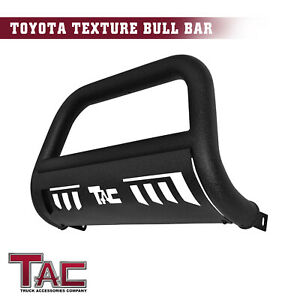 For 2016 2019 Toyota Tacoma 3 Bull Bar Grille Guard Front Bumper Texture Black