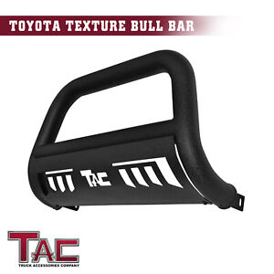 For 2016 2020 Toyota Tacoma 3 Bull Bar Grille Guard Front Bumper Texture Black