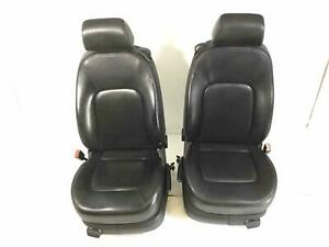 Front Seat Set Vw Beetle Convertible 06 07 08 09 10 Black Leather