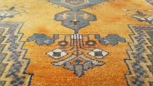 Exquisite Antique Cr1900 1939 S Muted Dye Wool Pile Oushak Rug 3 3 X6 1
