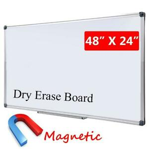 Large Magnetic Dry Erase Board With Pen Tray Wall mounted Aluminum Message