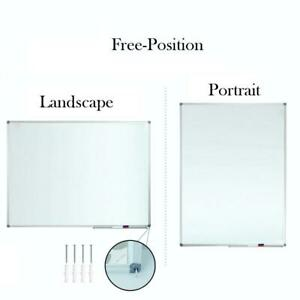 Lockways White Board Dry Erase 48 X 36 Magnetic Whiteboard 4 X 3 Silver