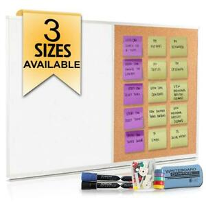 48 X 36 White Board And Cork Combination Large Magnetic Bulletin Combo For