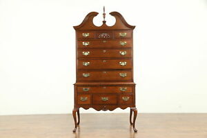 Mahogany Highboy Or Tall Chest On Chest Signed Hickory James River 30975