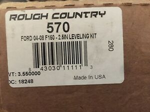 Rough Country 570 2 5 Front End Leveling Kit 2004 2008 2wd 4wd Ford F 150