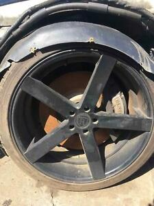 22 Inch Rohana Set Of Wheels Rims With Tires 265 35r22 Mint 5x130