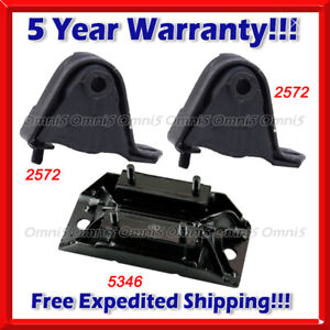 M661 Fit 2000 2001 Jeep Cherokee 4 0l Engine Motor Transmission Mount Set 3pc