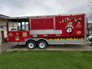 Ready For Action Food Concession Trailer With Porch Mobile Kitchen Unit For Sa
