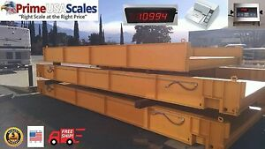 Truck Scale 70 X 11 Ft 200 000 Lb X 20 Lb Steel Deck Ntep Approved
