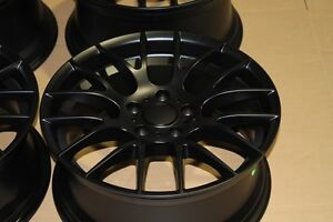 19 Matte Black M3 Csl Gts Style Staggered Wheels Rims Fits Bmw E46 M3