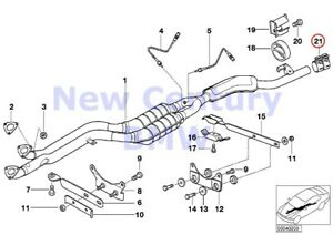 4 X Bmw Genuine Accessories And Retrofits Exhaust System Clamping Bush D 60mm E2