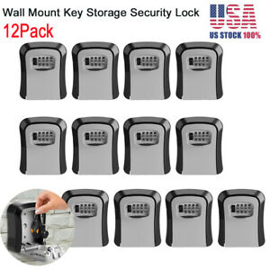 12pack 4 Digit Combination Key Lock Box Wall Mount Safe Security Storage Case Us