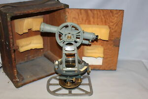 Keuffel Esser Co K e Paragon Transit Theodolite In Wooden Box
