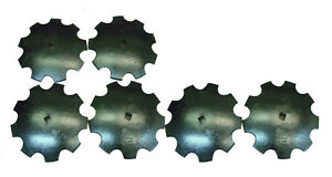 18 Notched Disc Harrow Blades Scalloped Heavy Duty 1 Or 1 1 8 Sq lot Of 6