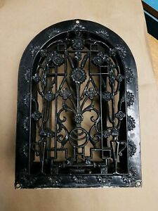 Victorian Era Cast Iron Arch Dome Cathedral Heat Grate Vent Very Ornate