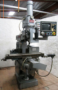 Lagun Ftv 1 Vertical Knee Mill W Allen bradley Cnc Control 42 x9 Table