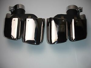 Fits Porsche Macan 14 17 Square Turbo Style Exhaust Tips Polished 2 0t