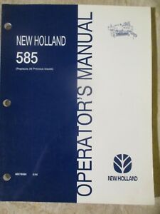 New Holland 585 Baler Operators Manual 86578565