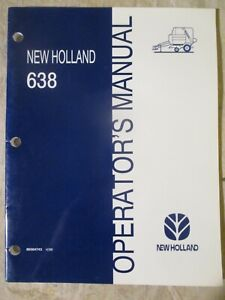 New Holland 638 Baler Operators Manual 86564743