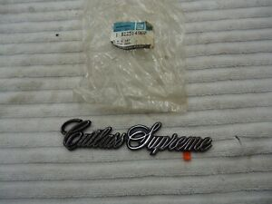 1978 1988 Oldsmobile Cutlass Supreme 442 Hurst Fender Emblem Nameplate