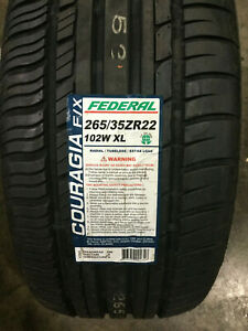 2 New 265 35 22 Federal Couragia F X Tires