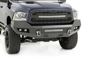 Rou 10774 Rough Country 13 18 Ram 1500 Heavy Duty Front Led Bumper