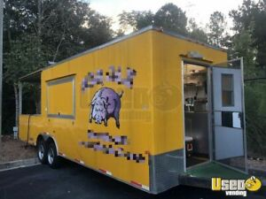 2012 8 5 X 26 Bbq Concession Trailer With Porch For Sale In Florida