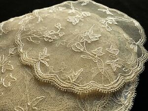 Antique French Lace Coasters Set Of 8