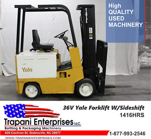 Yale 5000lb Electric Forklift W sideshift Hyster toyota mitsubishi 36v Lift