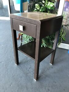 Vintage Industrial Modern Bel Geddes For Simmons Furniture Nightstand