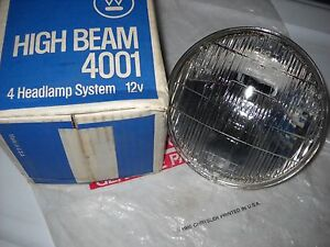 Nos Mopar 1950s 1960s 70 Hemi Westinghouse Sealed Beam
