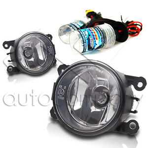 For 2013 2014 Ford Fusion Replacements Fog Lights W hid Conversion Kit Clear