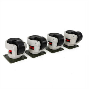 Gd 80f Set Of 4 Leveling Casters Low Noise 1000kg 2200lbs Footmaster Caster New