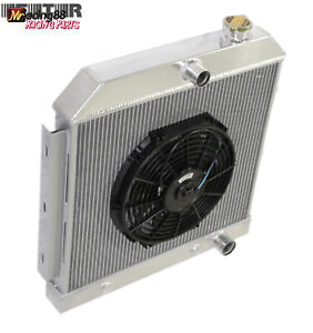 3 Core Performance Radiator 12 Fan For 55 57 Chevy Bel Air Nomad V8 Mt Only