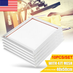 5pack 16 x20 Aluminum Silk Printing Screen Frame 47t Mesh White Screens Tool