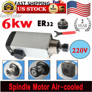 6000kw Spindle Motor Er32 Air Cooled Cnc Router Mill Machine Engraving Grinding