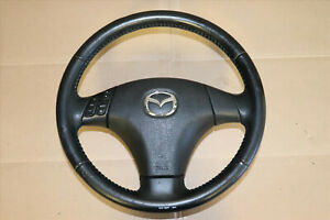 Jdm 06 07 Mazdaspeed Atenza Ms6 Genuine Srs Black Leather Steering Wheel L3t