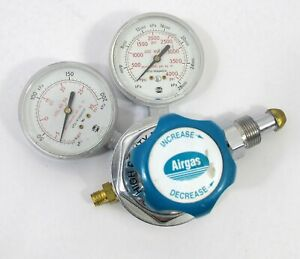 Airgas Usa Made Compressed Gas Regulator Gauges 3000 Psi 100 1 580 4s