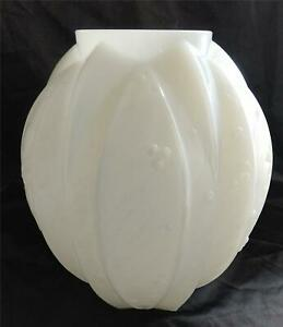 1920s Verlys France Art Deco Opalescent Vase Signed