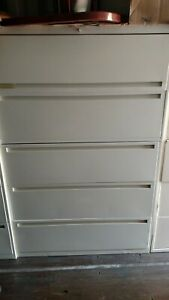 File Cabinet 5 Drawer Lateral Allsteel 42 W Lock Keys Wedeliverlocally Norcal