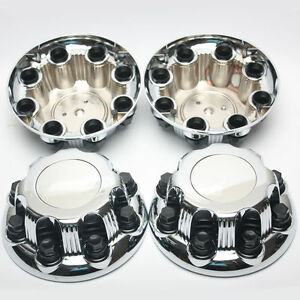 4pcs Chrome Gmc Chevy Silverado Sierra Wheel Center Caps For 16 17 8 Lug Wheel