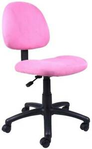 Office Chair In Pink Microfiber With Built in Lumbar Support id 2057116